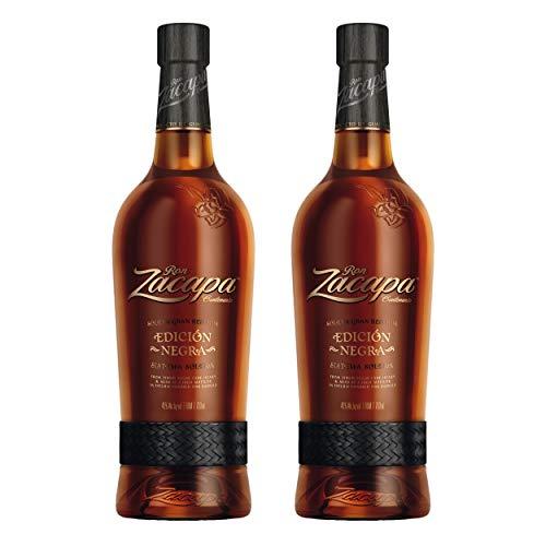 Ron Zacapa Edicion Negra Solera Gran Reserva Especial Rum, 2er, Black Petate, Guatemala, Alcohol, Bebida alcohólica, 43%, 700 ml, 713258