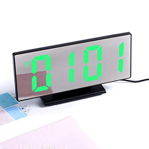 GYZBYMultifunktionaler Elektronischer Großbild-Wecker Mit Stummgeschaltetem Led-Spiegel