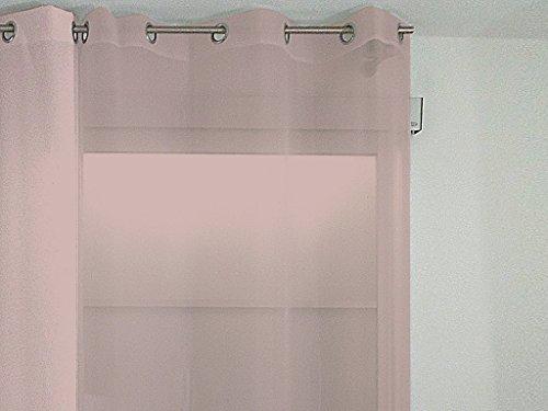 Soleil dOcre 31460 Alix Rideau /Ã//Â/ Oeillets Infroissable Polyester Noir 135 x 250 cm
