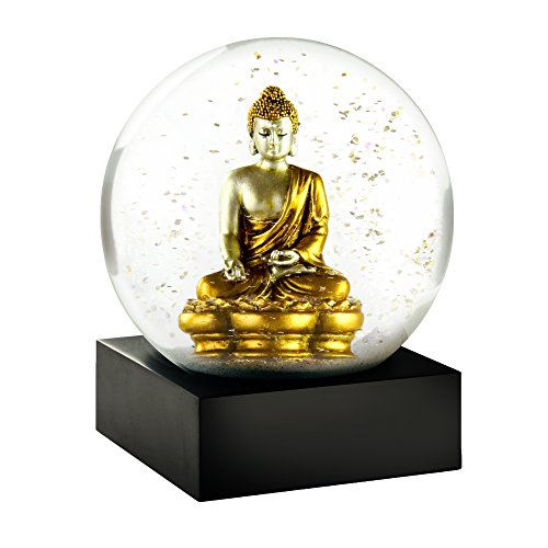 CoolSnowGlobes Gold Buddha Cool Snow Globe