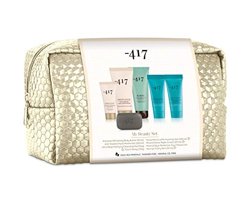 -417 Dead Sea Cosmetics 6 piezas Ideal Valentine Kit - Régimen de cuidado completo con crema de manos, manteca corporal, crema de noche equilibrante y más. - Re define Collection