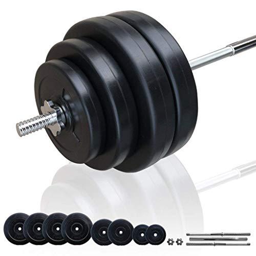 BARWING(バーウィング) 10kg 20kg 25kg 30kg ×2個セット バーベル ホームジム トレーニング 筋トレ トレーニング (ブラックバーベル 60kg)
