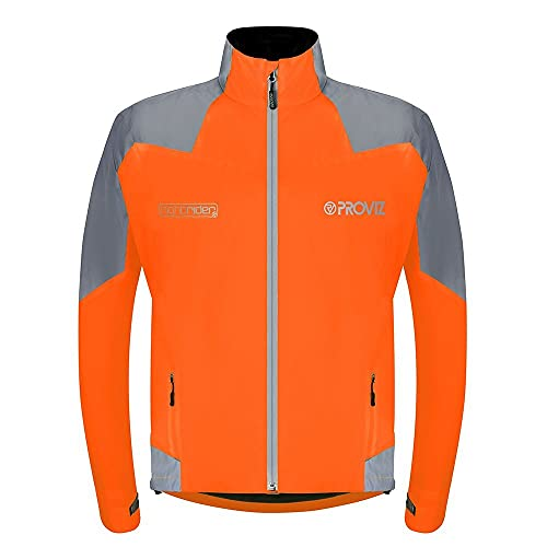 Proviz Herren Nightrider Fahrradjacke 2, Herren, Orange, 3X-Large
