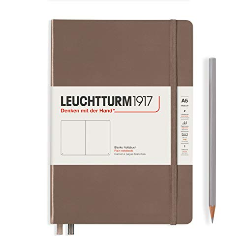 LEUCHTTURM1917 363394 Notizbuch Medium (A5), Hardcover, 251 nummerierte Seiten, Warm Earth, blanko