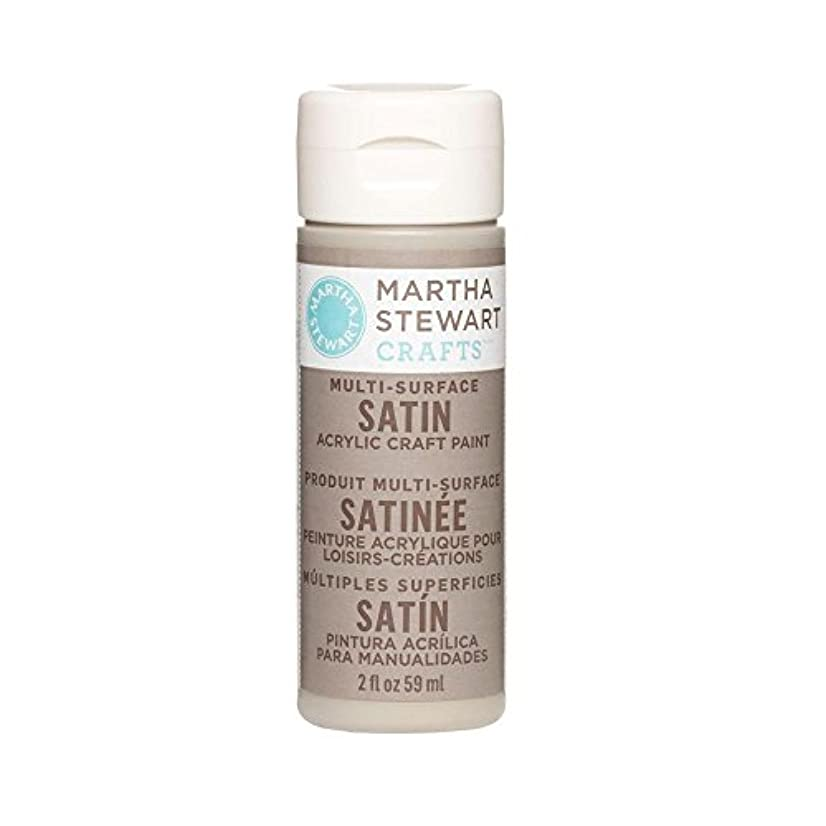 Martha Stewart Crafts Multi-Surface Satin Acrylic Craft Paint in Assorted Colors (2-Ounce), 32078 Wet Cement