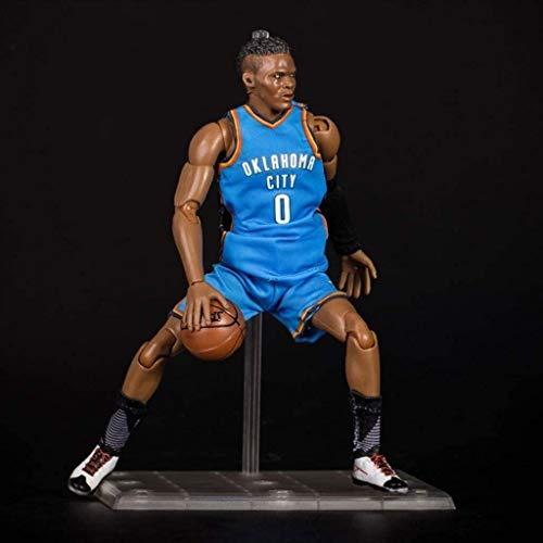 HOOPOO Figura de acción de 22 cm de la Serie NBA 0 Russell Westbrook de Oklahoma City Thunder edición Limitada de colección: Figuras de la NBA