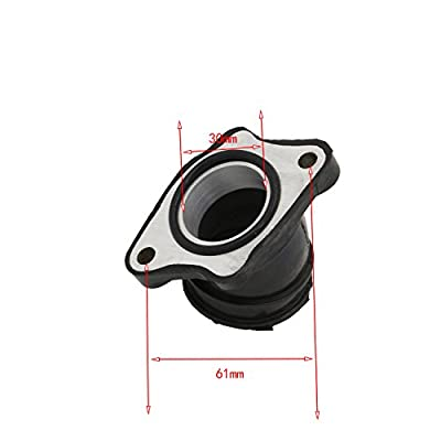 34MM Carburetor Rubber Angled Adapter Inlet Intake For OKO KEIHIN Mikuni Carb by JHMOTO