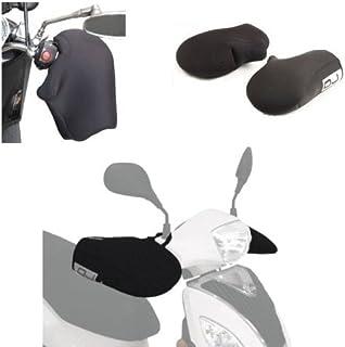 Compatible con Cagiva Aletta Oro 125 Manguitos DE Neopreno Impermeable OJ JC010 Cubiertas UNIVERSALES para Motocicletas Scooter PUÑOS Negros