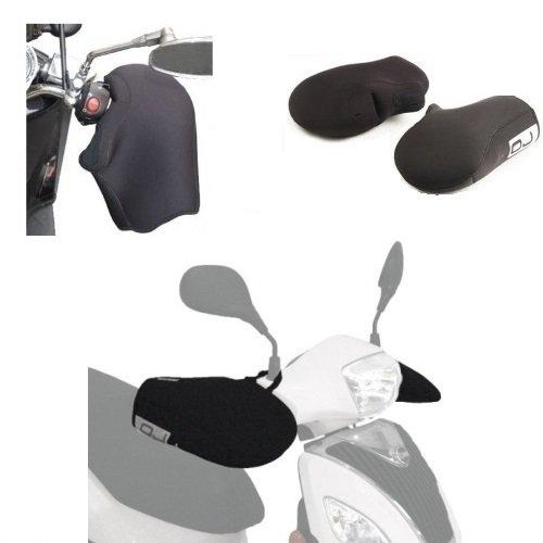 Compatible con Yamaha XENTER 150 Manguitos DE Neopreno Impermeable OJ JC010 Cubiertas UNIVERSALES para Motocicletas Scooter PUÑOS Negros