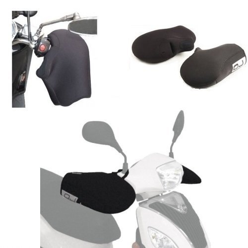 Compatibel met Montesa Cota 4R7 standaard 250 neopreen manchetten waterdicht OJ JC010 universele afdekkingen voor motorfietsen, scooters, zwarte handgrepen