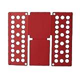 Camiseta De Carpeta Doblar La Ropa De Mesa Quick Apilamiento De Tarjetas Ropa Organizador Rojo Ideal Opción Práctica