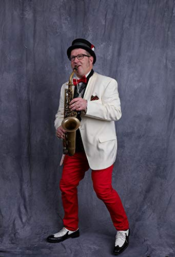 24 x 36 Giclee Print ofSaxaphone Player Joseph Atkins a Member of The Wild Anacostias Band Poses at The Night of 100 Elvises at The Lord Baltimore Hotel in Baltimore Maryland Where f16 2017 Highsmith