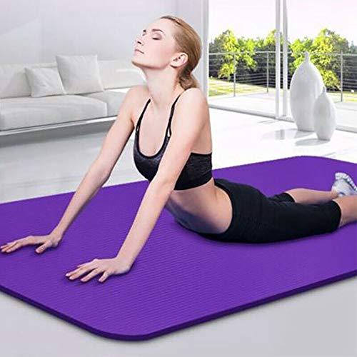 ISENPENK Tapis de Yoga, Tapis de Yoga d'exercice antidérapant EVA, Tapis d'entraînement de Fitness avec Sangle de Transport pour Yoga, Pilates, méditation, entraînement de Gym à Domicile