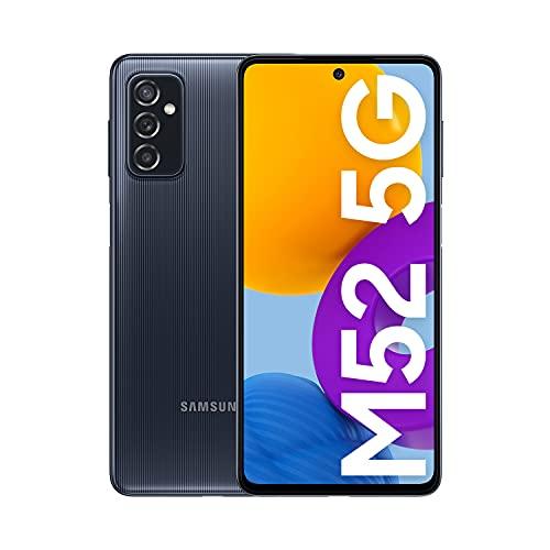 Samsung Galaxy M52 5G - Teléfono móvil sin tarjeta SIM, Android, Smartphone, 128 GB, Negro + (Versión ES)