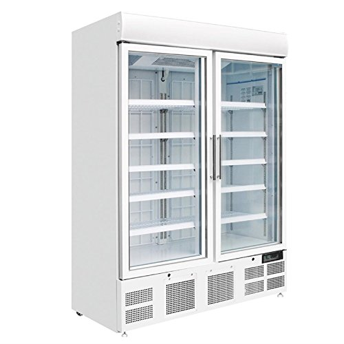 Gefriervitrine Kühlvitrine Gefrierschrank mit Glastüre Display Gefrierschrank 920L Gastro Tiefkühlschrank