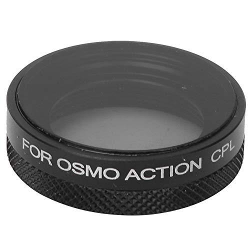 Mugast Lensfilter, camera van aluminium en optisch glas polarisatiefilter objectiefaccessoires voor DJI Osmo Action Sports camera's voor landschapsfotografie