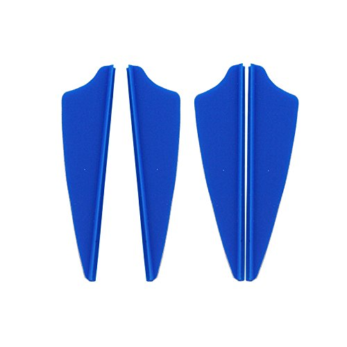 Mangobuy 100pcs 2 Pulgadas Escudo plástico Flecha TPU Fletching Vane Tiro con Arco Arco para la Caza (Azul)