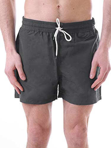 Polo Ralph Lauren Traveler Short Badehose Swim Shorts M Combat Grey (019)