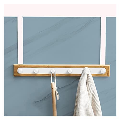 Sobre el gancho de la puerta el espacio de la puerta de aluminio del espacio para las capas colgantes gorras de baño Toallas de baño Toallas Baño Almacén Rack Toalla Rack 6 ganchos Negro / Blanco