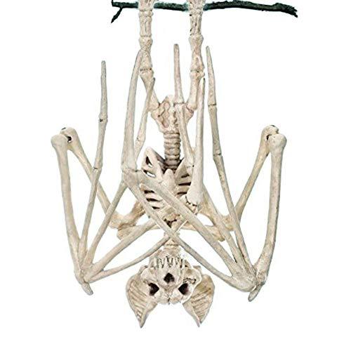 Horrible Halloween Bat Bat Squelette Simulation Squelette Chauve-Souris Lifelike Os Halloween Décorations d'halloween Props Animaux Squelette pour Halloween Décoration (Chauve-Souris)