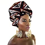 African Traditional Headwrap Scarf Tie, Multi-Color Urban Ladies Hair Accessory Headband Head Scarf (TTJ07)
