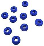 Kombi - 10 ojales de plástico para vela - Martillo autoperforante - Lona náutica - Cuerda elástica - Anillas - Kit de 10 ojales - Velas de plástico - Autoperforantes
