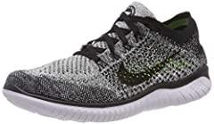 Flyknit constructed upper delivers zoned stretch and support. Dual-density midsole and tri-star outsole provide flexible cushioning. Dynamic heel is stretchy for a snug, adaptive fit. Minimal, molded sockliner mimics the curvature of the foot to add ...