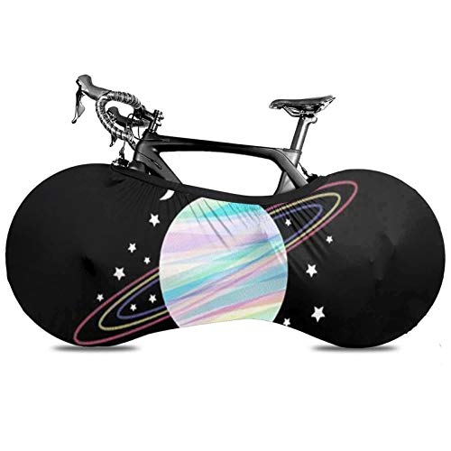 BYTKMRY Planet Pattern Bicycle Wheel Cover, Anti-Dust Bike Indoor Storage Bag Scratch-Proof Washable High Elastic Tire Package Fit All Bicycles Protective Gear Garage