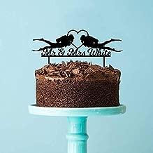 Scuba Divers & Surname Personalised Wedding Cake Topper Decoration Custom Scuba Diving Wedding Cake Topper Laser cut Melbourne Australia
