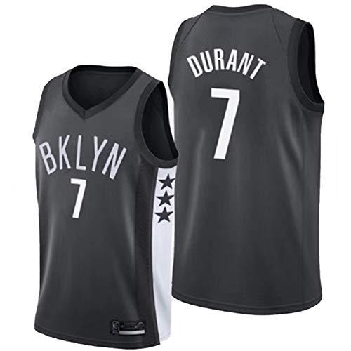 OLJB Kevin Durant Brooklyn Nets - Camiseta de baloncesto para hombre, diseño de redes de baloncesto de malla negra, cómodo y transpirable, regalo de Pascua real negro-S