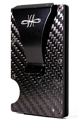Vian Wallet for Man Style - Billetero para Hombre pequeño - Cartera para Hombre RFID - Tarjetero de carbón con Clip para Billetes