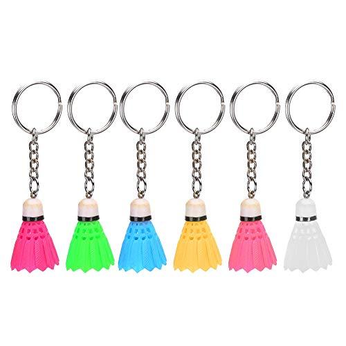 Fdit 6Pcs Schlüsselringe Mini Simulation Badminton Schlüsselbund Schlüsselring Schlüsselring Anhänger für Tasche Mode hängen Dekoration