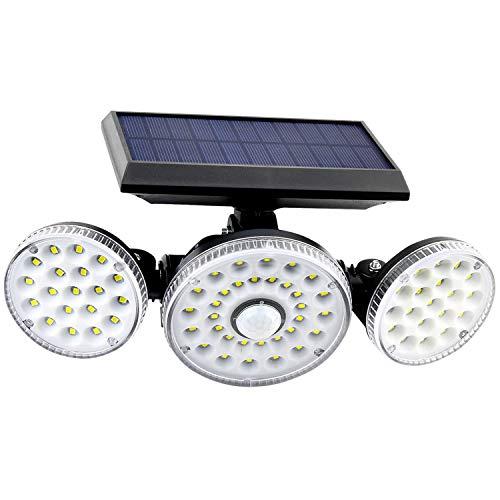 REDSTORM Luz Solar Exterior, Foco Solar Exterior con Sensor de Movimiento, Lámpara Solar de Seguridad, Tecnología Impermeable IP65, 70 LED de Vida Ultralarga, Adecuada para Mal Tiempo