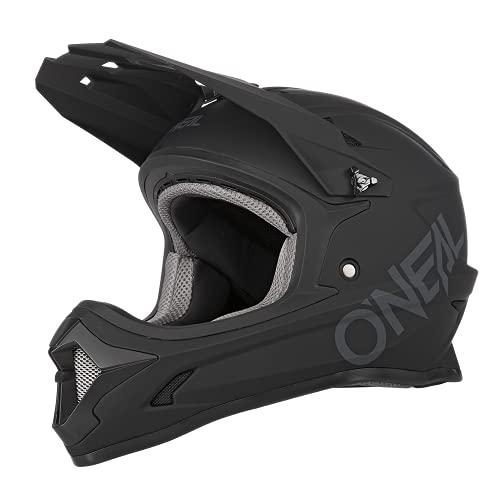 O'NEAL | Mountainbike-Helm | Kinder | MTB Downhill | ABS Schale, Lüftungsöffnungen für optimale Belüftung & Kühlung, Sicherheitsnorm EN1078 | Sonus Youth Helmet Solid | Schwarz | Größe L