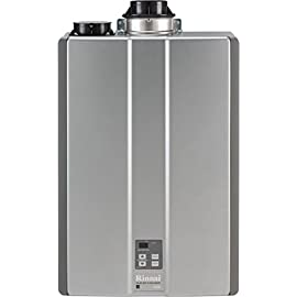 Rinnai RUC80iN Ultra Series Natural Gas Tankless Water Heater, Concentric or Twin Pipe Installation 8 Concentric or PVC venting option Up to .96 Energy Factor The space-saving design allows installation almost anywhere
