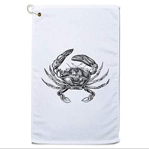 Style In Print Golf Towel Crab Vintage Look G Animals Ocean & Sea Life Cotton Bag Accessories White Design Only