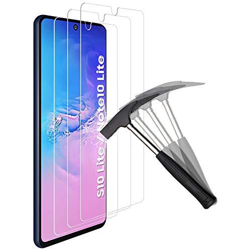 ANEWSIR 3 Stück PanzerglasSchutzfolie Kompatibel mit Samsung Galaxy S10 Lite/Note10 Lite Bildschirmschutzfolie, [9H Festigkeit][Bubble Free][HD Klar][Anti-Kratzen], Folie für S10 Lite/Note10 Lite.