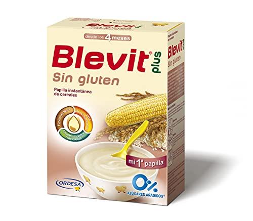 Blevit Plus Sin Gluten - Papilla de Cereales para Bebé con Harina de Arroz y Harina de Maíz - Sin Azúcares Añadidos - Desde los 4 meses - 600g