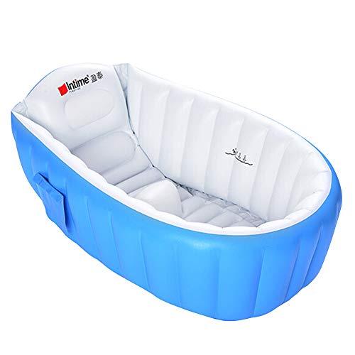 Bañera hinchable para bebés, para niños, para piscina, antideslizante, plegable, para viajes, gruesa, para bebés de 0 a 3 años