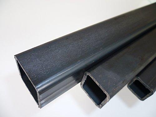 B&T, tubo quadrato in acciaio, metallo, 30 x 30 x 2 mm, in lunghezze da 1500 mm, con scostamento di +0/-3 mm, nero, a profilo cavo, modello ST37