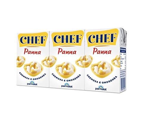 Parmalat Panna chef Sahne per cucinare Kochcreme creme fur Koch 3x 125 ml