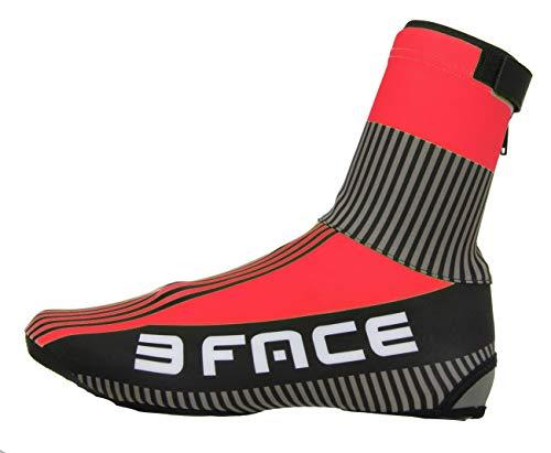 Threeface Copriscarpa Invernale Ciclismo Antivento Antipioggia Termico Deal Protezione Scarpe Bici MTB (47-48, Rosso)