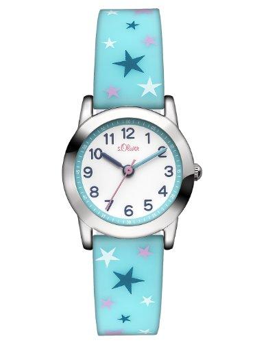 s.Oliver Mädchen-Armbanduhr Analog Quarz Silikon SO-2896-PQ