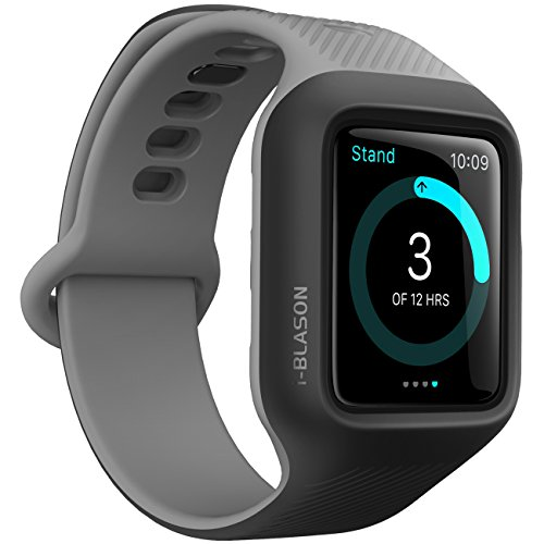 i-Blason Band Compatible with Apple Watch 3 42 mm, [New Unity Series] Premium Hybrid Protective Bumper Band for Apple Watch 42 mm 2017 Release [Compatible with Apple Watch 42mm 2015 2016] (Black)