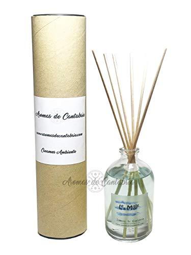 Aromas de Cantabria Mikado Le Male de La Mer 100ml, fabricado en España, 100% natural,artesanal, hecho a mano, original, 16 semanas de duracion, 20 m2, ambientador casa,oficina,baño