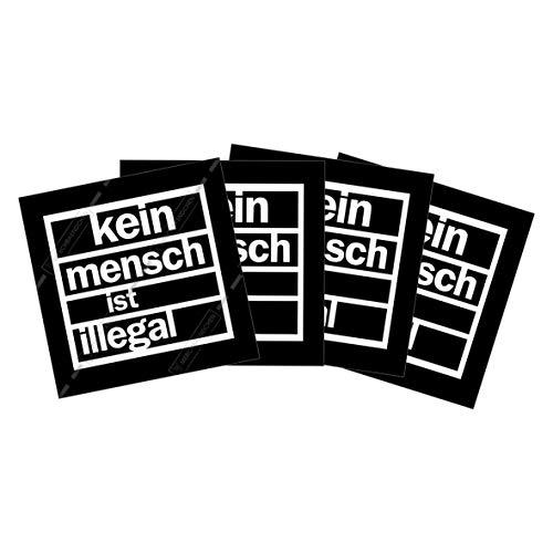 Kein Mensch ist illegal Sticker Paket (30, 50 oder 100 Stück) 7,2 x 7,2cm
