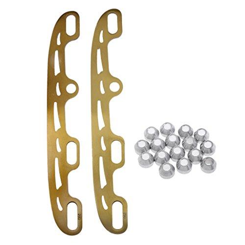 FLAMEER Patines de Cuchillas de Acero Inoxidable para Patinaje de Hockey sobre Hielo - Oro, S