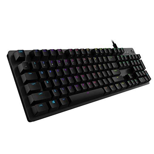 Logitech 920-008940 - Tastiera meccanica per gaming, in carbonio, rigenerata nero carbone