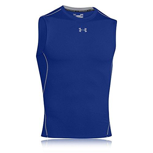 Under Armour Hg T-Shirt de compression sans manches Homme Royal/Steel FR : XL (Taille Fabricant : XL)