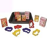 Unbekannt Backblech mit Dr. Oetker Produkten, Ausstechförmchen: Kaufladen Zubehör Backblech Kaufmannladen Spielküche Zubehoer